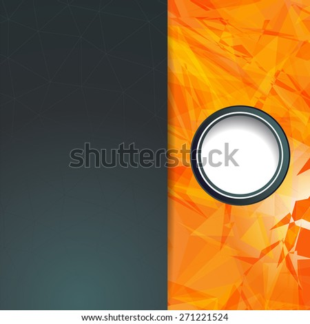 Futuristic Design, background with triangle - brochure design or flyer - stock vector