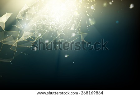 Futuristic design with space for text. Vector illustration. - stock vector