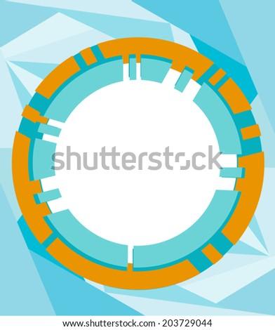 Futuristic Frame vector. Circular border - stock vector