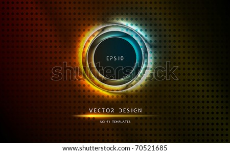 Futuristic Gate, Entrance | Vector Science Fiction Series - stock vector
