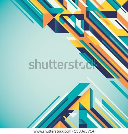Futuristic geometric abstraction. Vector illustration. - stock vector