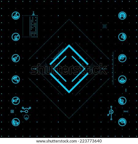 Futuristic graphic user interface - stock vector