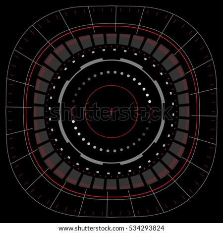 Futuristic head up display interface. Abstract. Vector EPS10.