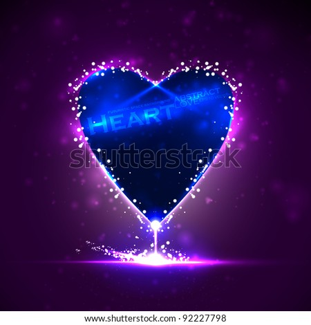 Futuristic heart, abstract background, vector illustration eps10 - stock vector