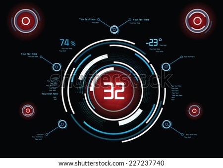 Futuristic infographics as head-up display - stock vector