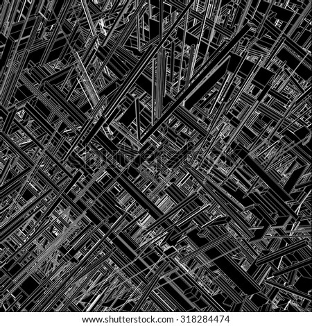 Futuristic Megalopolis City Of Skyscrapers Vector 24 - stock vector