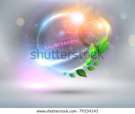 Futuristic minimal design with huge space for information. - stock vector