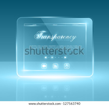 Futuristic minimal design with huge space for information. Fully editable. Eps10. - stock vector