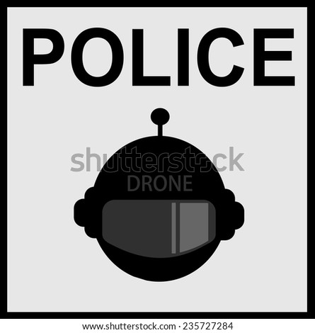 Futuristic Police Drone Design