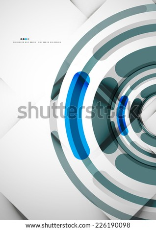 Futuristic rings technology abstract modern abstract background - stock vector