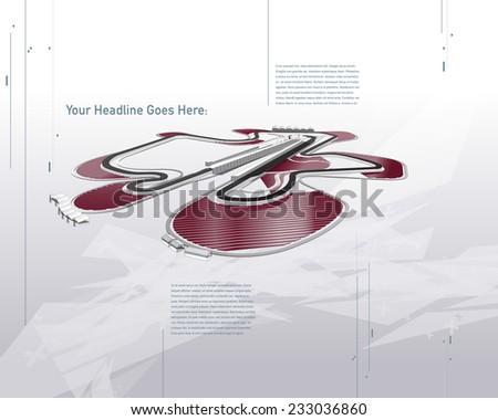 Futuristic Sepang F1 Racing Track Vector - stock vector