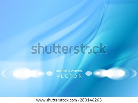 Futuristic smooth waves abstract bright background. Vector elegant design