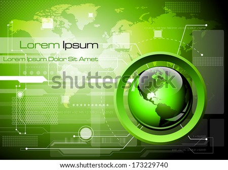 Futuristic technology abstract background - Vector illustration - stock vector