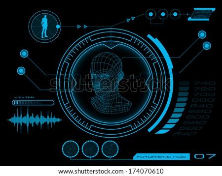 Futuristic user interface HUD - stock vector