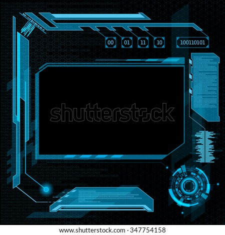 Futuristic user interface HUD. Abstract background. Stock vector illustration. - stock vector