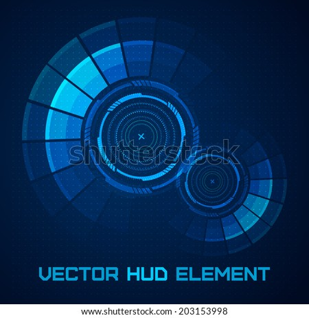 Futuristic user interface. HUD element. Vector. - stock vector