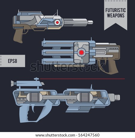 Futuristic weapons. EPS8.