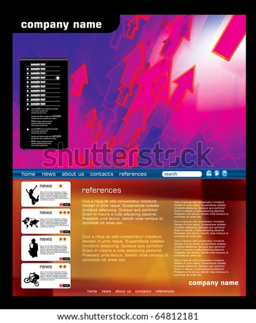 Futuristic web page template - stock vector