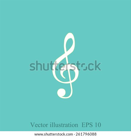 g-clef   icon - stock vector