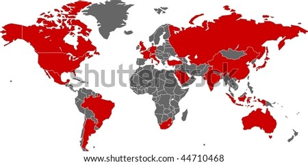 Austrilia stock images royalty free images vectors shutterstock g20 nations on world map in vector art gumiabroncs Images