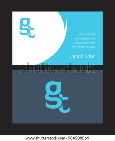 G t letter logo business card stock vector hd royalty free g t letter logo with business card thecheapjerseys Image collections