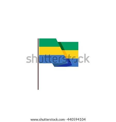 Gabon flag - stock vector