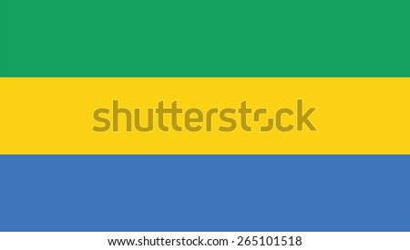 gabon Flag for Independence Day and infographic Vector illustration. - stock vector