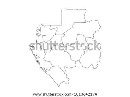 Gabon Stock Images RoyaltyFree Images Vectors Shutterstock - Gabon blank map