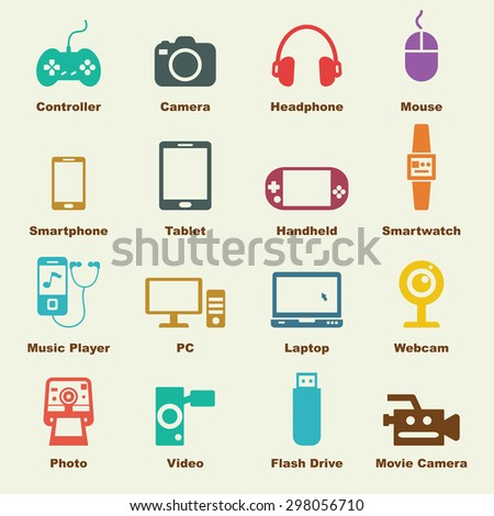 gadget elements, vector infographic icons - stock vector