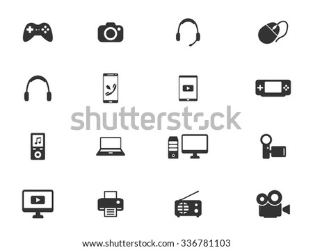 Gadgets simply symbols for web icons