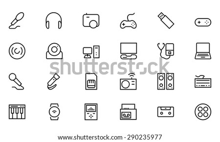 Gadgets Vector Line Icons 1