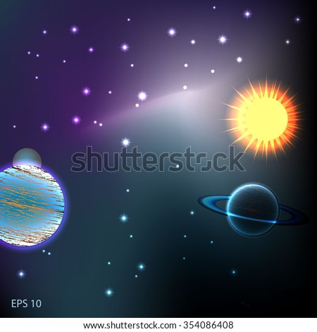 galaxy - stock vector