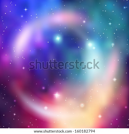 Galaxy background. Abstract colorful vector illustration - stock vector
