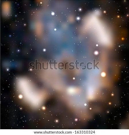 Galaxy background. Vector illustration