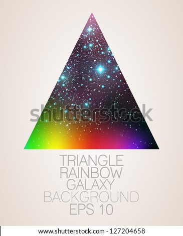 Galaxy triangle rainbow background - vector illustration. - stock vector