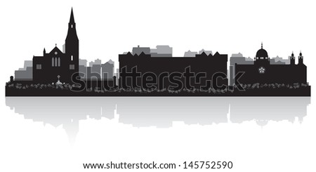 Galway city skyline silhouette vector illustration