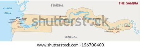 Gambia map - stock vector
