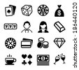 Gambling and Casino Icons Set. Vector - stock photo