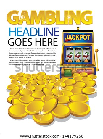 Gambling casino design layout template. EPS 10 vector, grouped for easy editing. No open shapes or paths. - stock vector