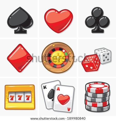 Gambling & Casino Icons - Soft Collection