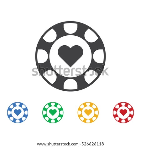 Gambling chips icon. Casino icons universal set for web and mobile