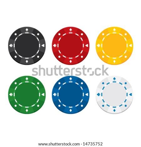 Gambling chips, vector illustration - stock vector
