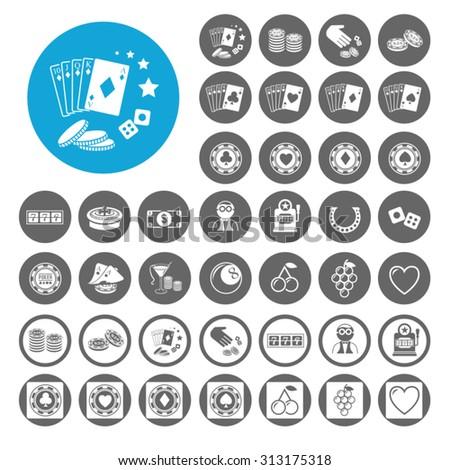 Gambling icons set. Illustration EPS10 - stock vector