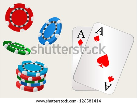 Gambling. Style vector