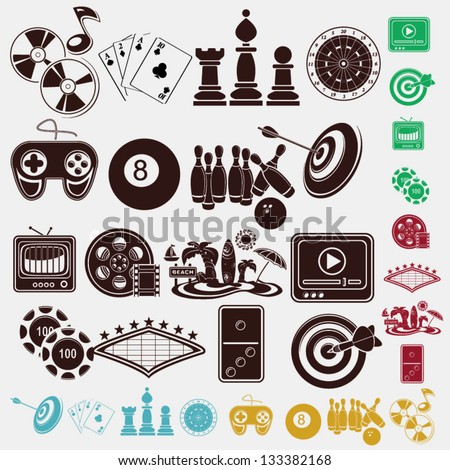 game and hobby icons - stock vector