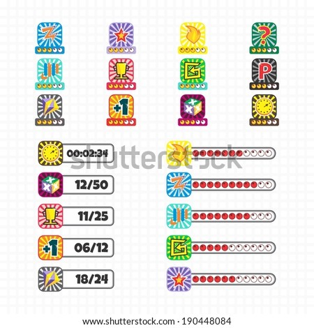 game asset icon element - stock vector