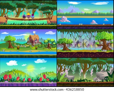 Game background Vector set - stock vector