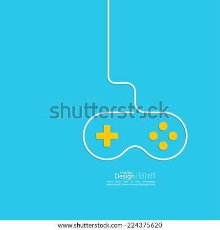 Game background wire and joystick. outline. Game tournaments and competitions. Features gamer, agility, speed, reaction - stock vector
