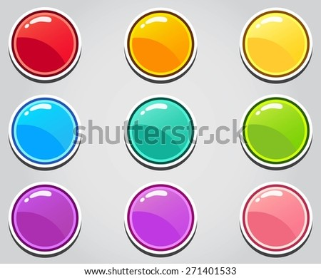 Game buttons round