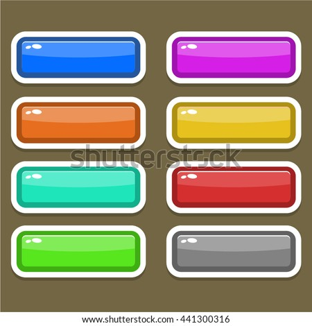 Game Buttons Different Colors Stock Vector 441300316 - Shutterstock